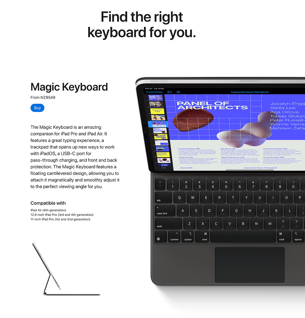 Apple Keyboard Landing Page
