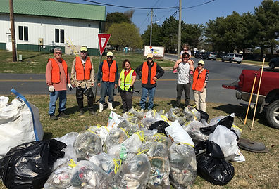 DCPG Volunteers collected trash from local waterway during Project Clean Stream