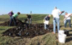 DCPG Board and volunteers help plant rain garen at Sailwinds Park