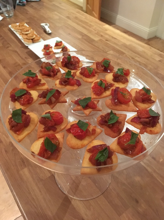 Parmesan Shortbread Canapes