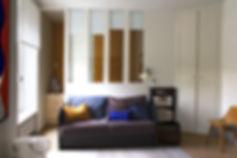 salon lumineux verrière architecture design  interieur Vannes Bretagne Family Cabins Inspire parquet