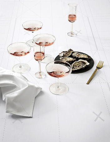 Nappe et serviette en coton Georg Jensen Damask design Margrethe Odgaard