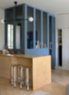 Verriere architecture design  interieur Vannes Bretagne Family Cabins Inspire bois contreplaqué parquet