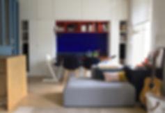 salon architecture design  interieur Vannes Bretagne Family Cabins Inspire bois verriere