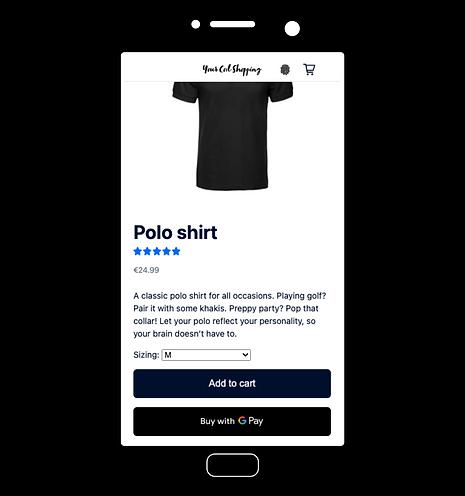 Acheter avec Google Pay sur la page produit