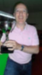 Sean Hurst winner of 2015 Bradford On Avon Snooker Tournament