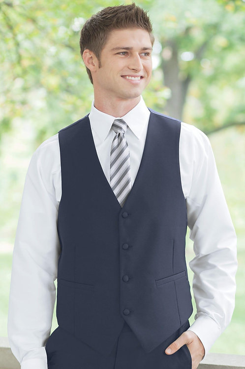 Sterling Navy Vest