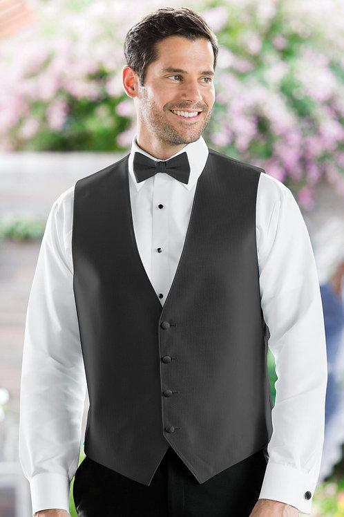 Herringbone Charcoal Vest