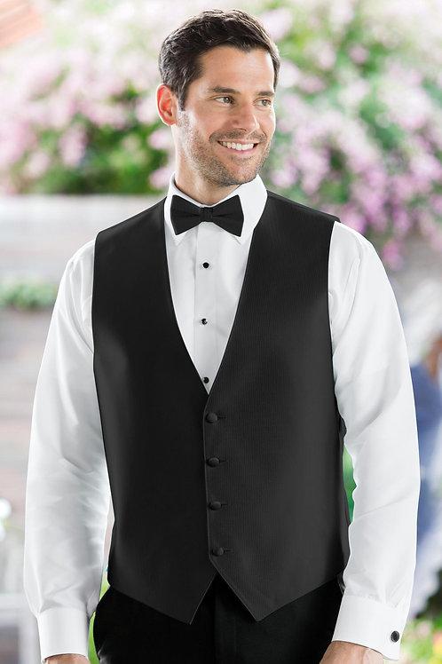 Herringbone Black Vest