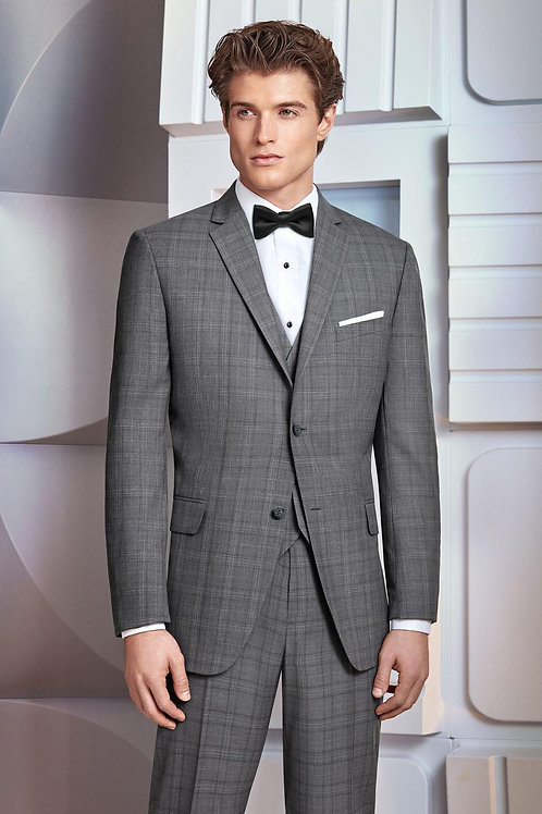 Ultra Slim Grey Plaid Hamilton Suit