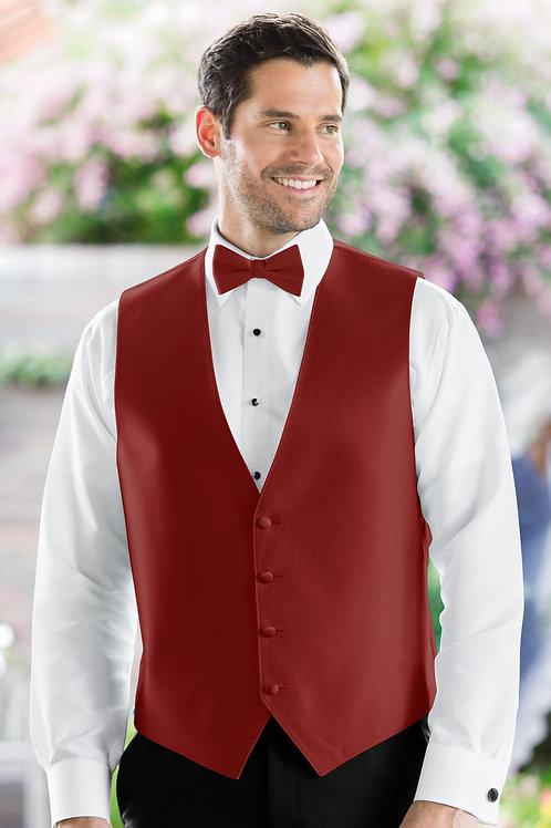 Herringbone Apple Red Vest