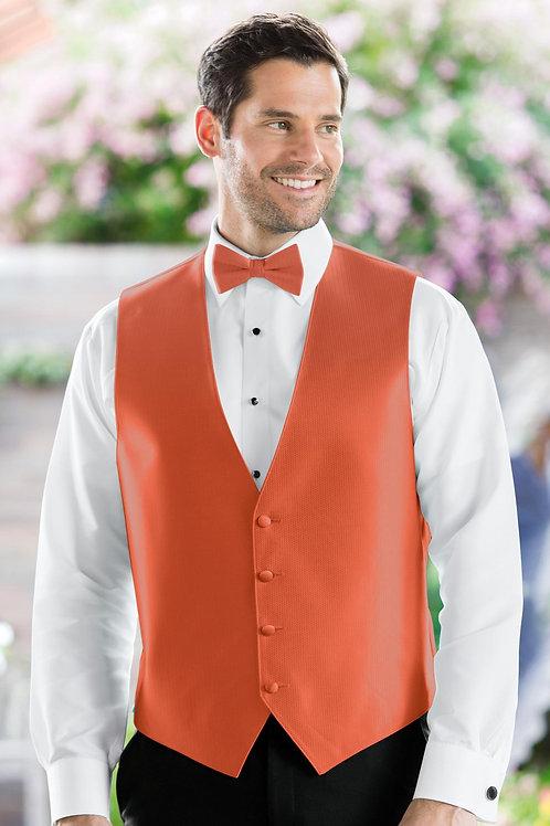 Herringbone Persimmon Vest