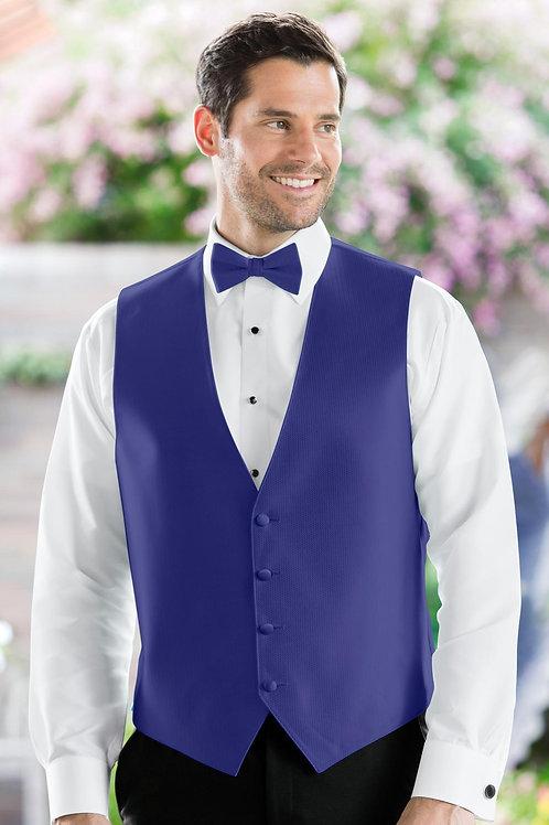 Herringbone Sapphire Vest