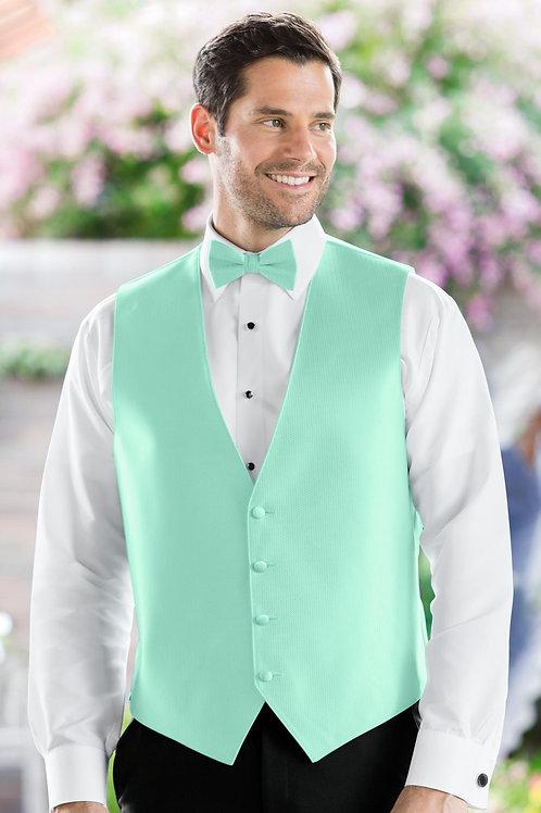 Herringbone Mint Vest
