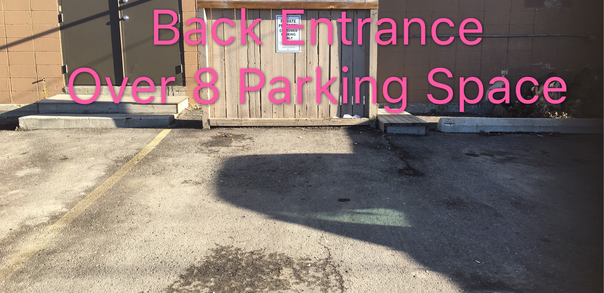 Back Parking and Entrance