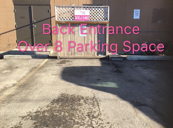 Back Parking and Entrance