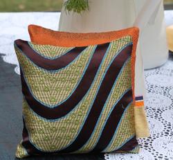 Sachets de lavande- soie-arabesques- Sylvie Guieysse Pillows