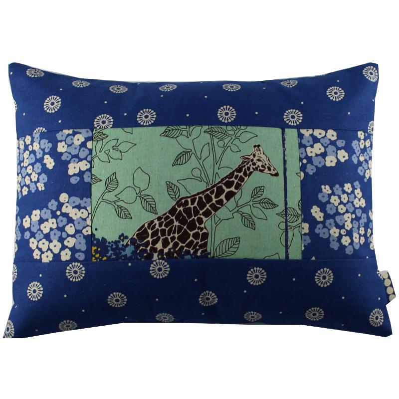 Coussin Girafe Bleue Sylvie Guieysse