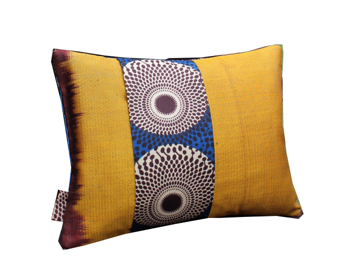 Coussin Khiva jaune - Sylvie Guieysse Pillows