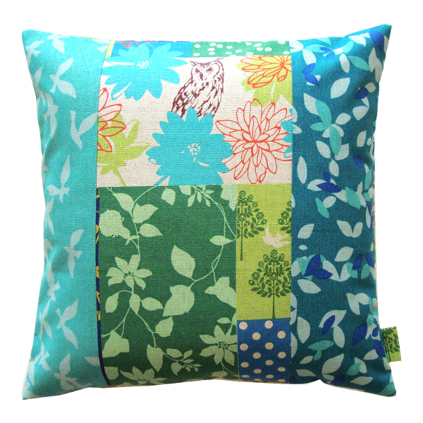 Coussin chouette bleue - Sylvie Guieysse Pillows