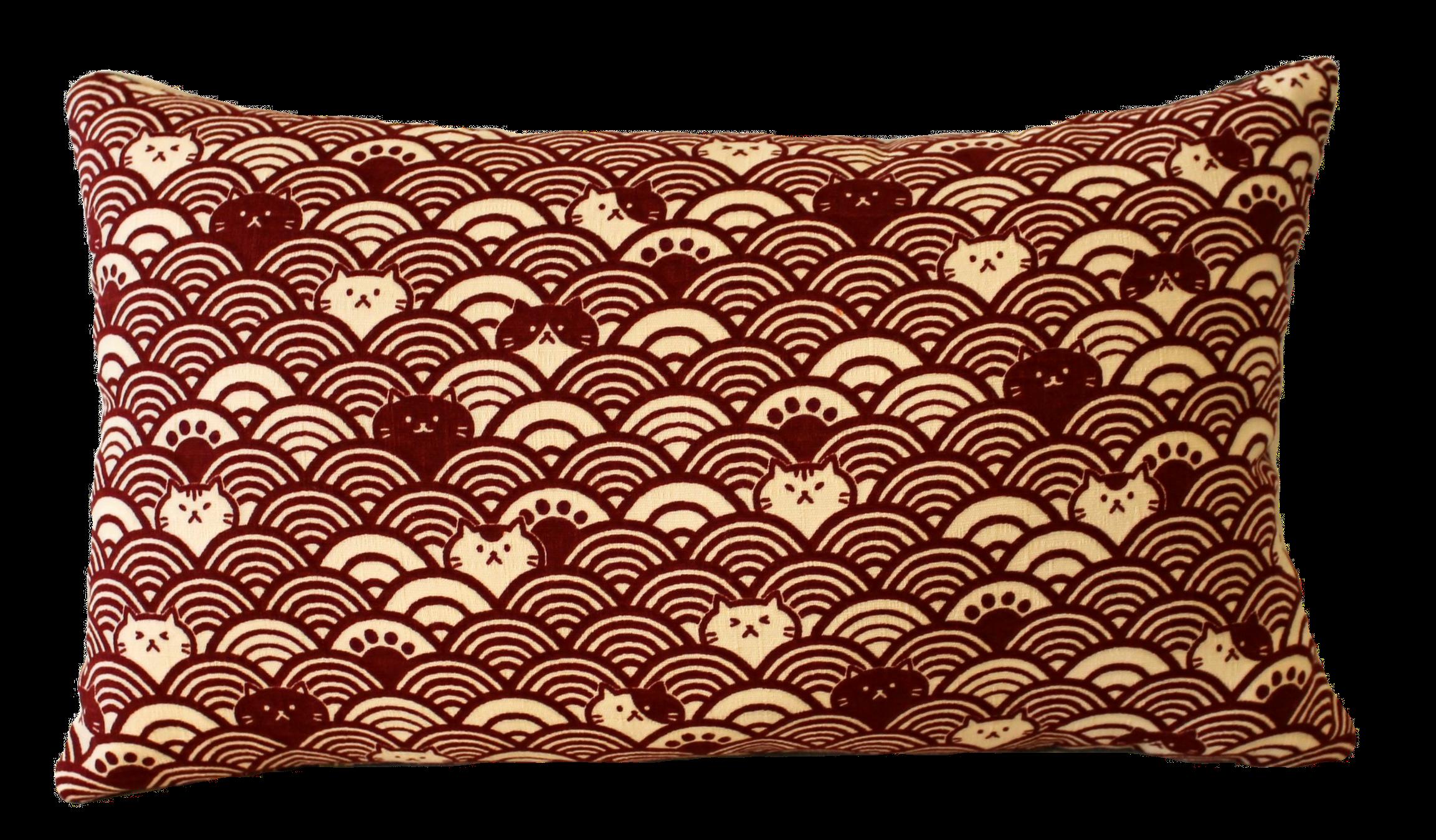 Coussin de voyage Maneki-neko rouge - 24€