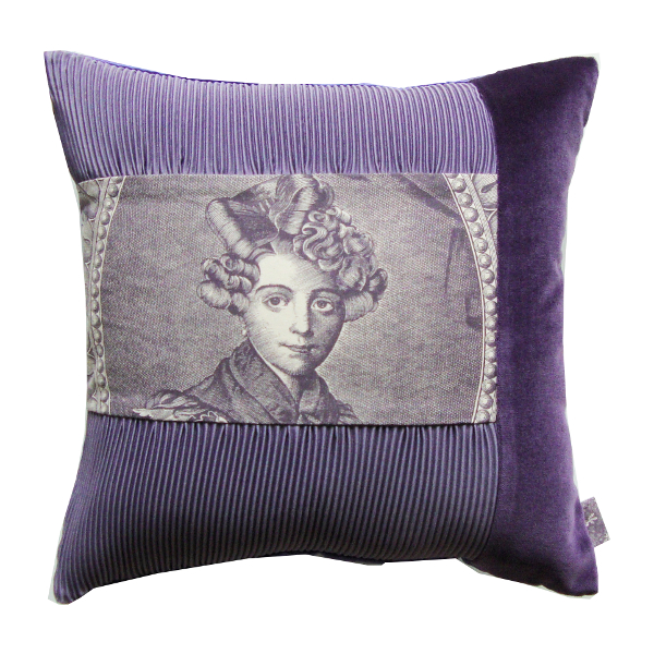 Coussin Lady Mauve- Sylvie Guieysse Pillows