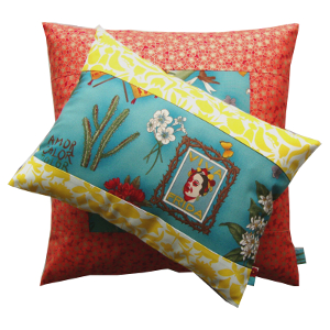 Coussin Frida jaune - Sylvie Guieysse pillows