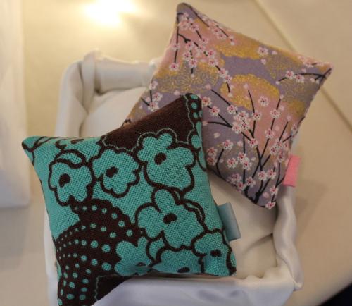 Sachets de lavande tissus japonais bleu et rose - Sylvie Guieysse Pillows