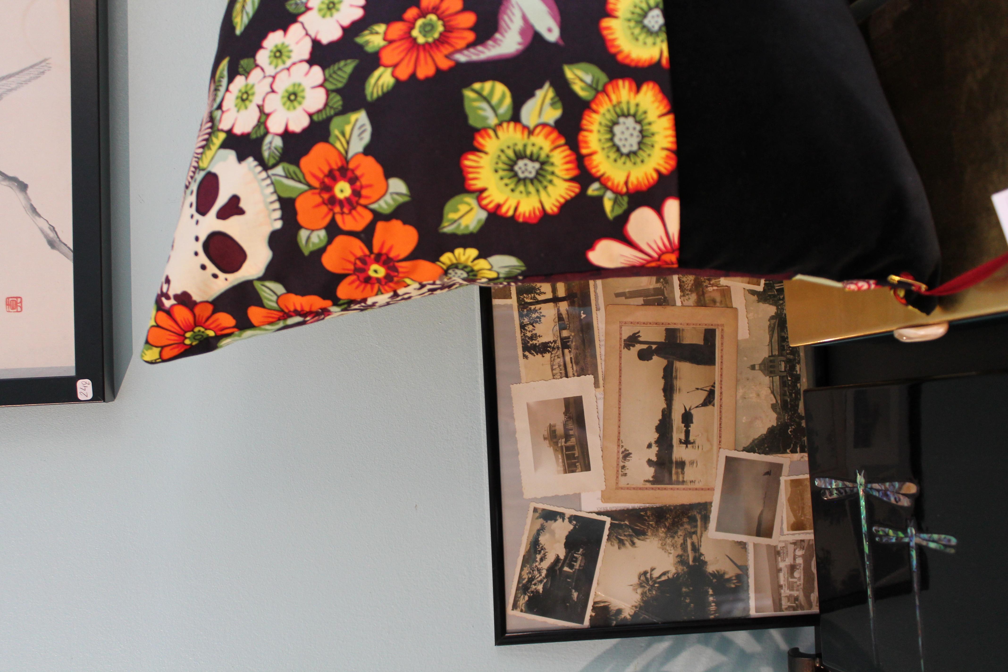 Coussin Frida noir - 65€