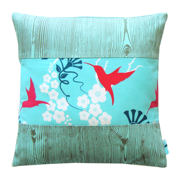Coussin Electric Bird bleu - Sylvie Guieysse Pillows
