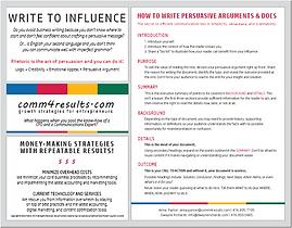 How to write persuasive arguments & docs