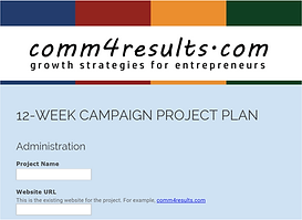 Campaign Planning Form