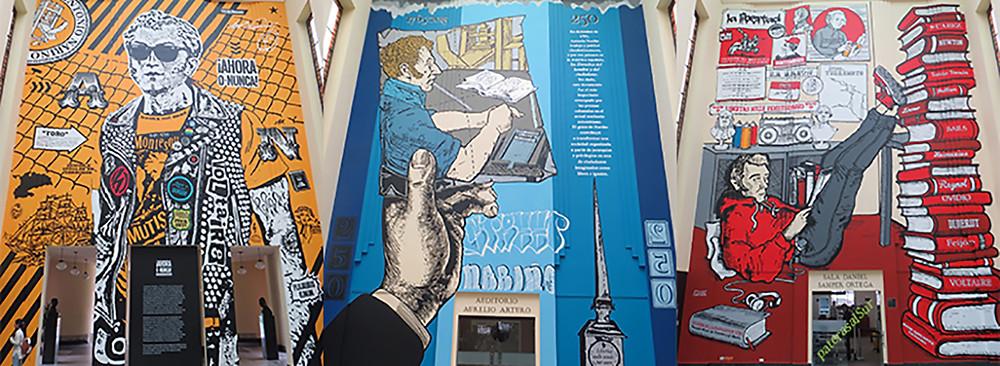 Grafiti en honor de Nariño elaborado por Toxicómano, Lesivo y Erre.