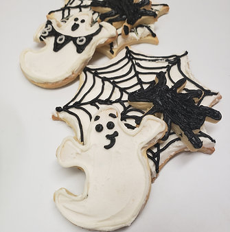 Spiderwebs & Ghosts Cookie Kit