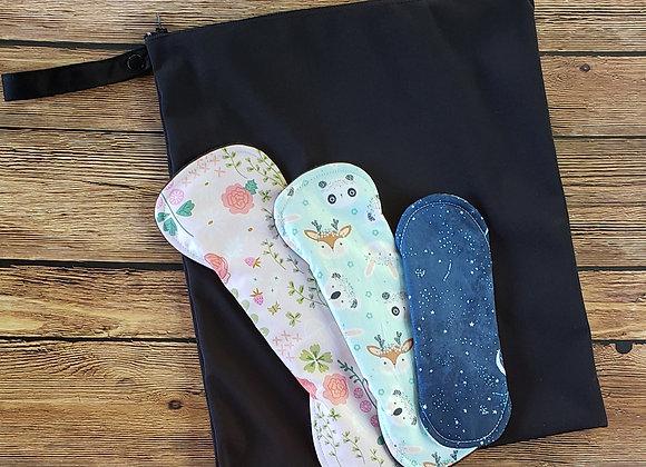 Grand sac imperméable pour serviettes sanitaires lavables