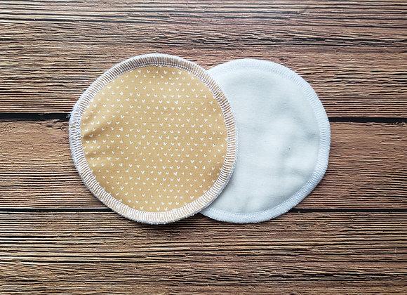 UNE paire de compresses d'allaitement lavable réutilisable
