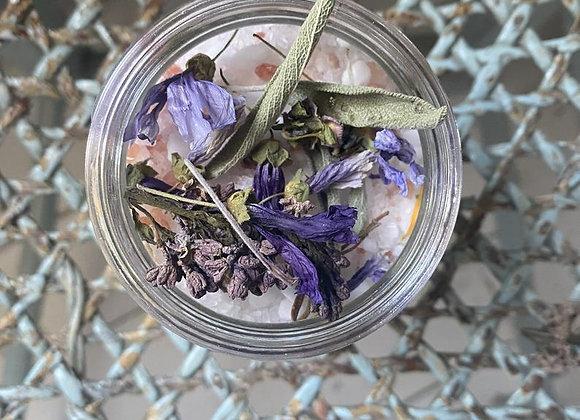 Mélange détente de SEL pour le bain & Fleur La Garance -  Lycka atelier