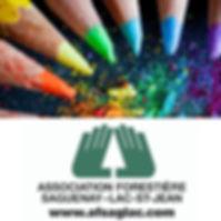 Logo AFSL - Crayons arc-en-ciel avril 20