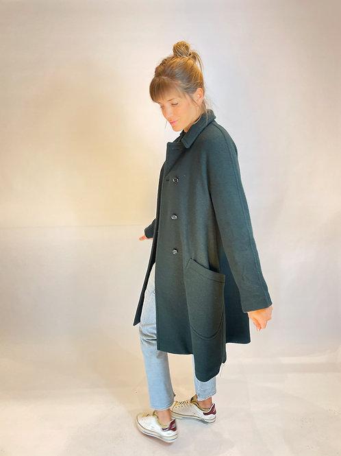 Mantel Doppelreiher grün Aspesi