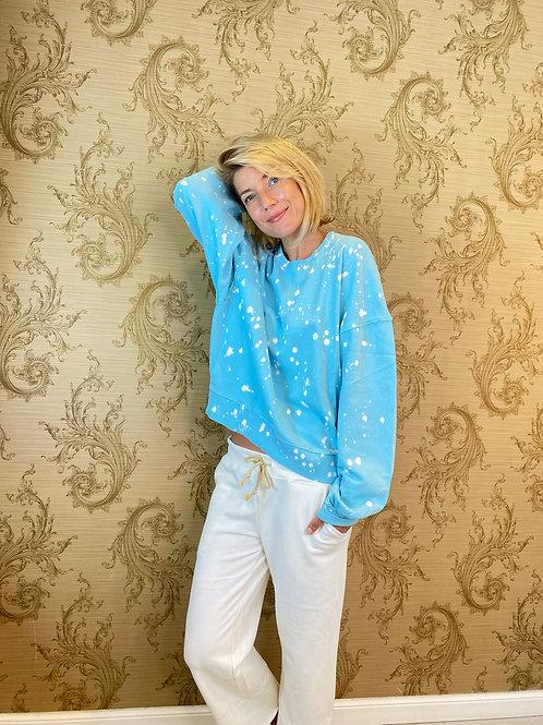 Sweater türkis batik