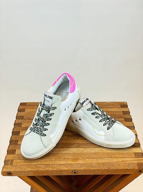Sneaker weiß neonpink Méliné