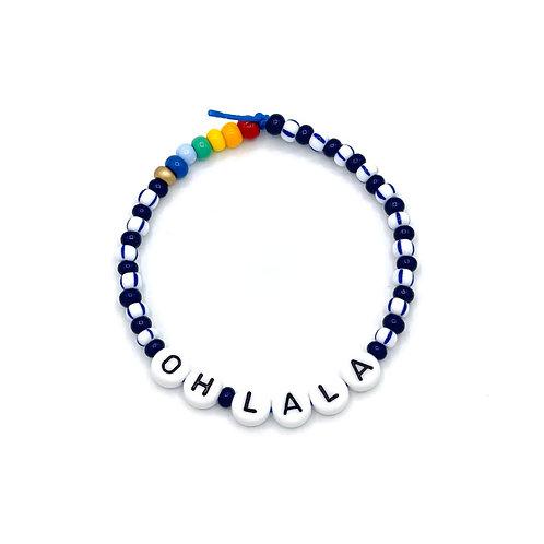 "Armband ""OHLALA"" blau"