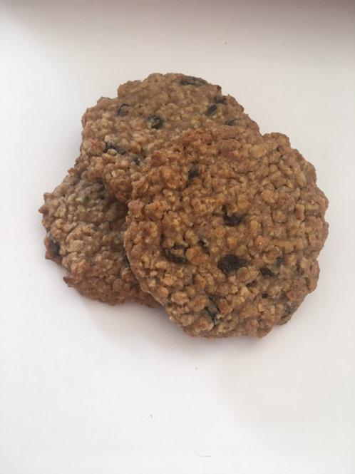 Six oat & raisin biscuits (V/GF)