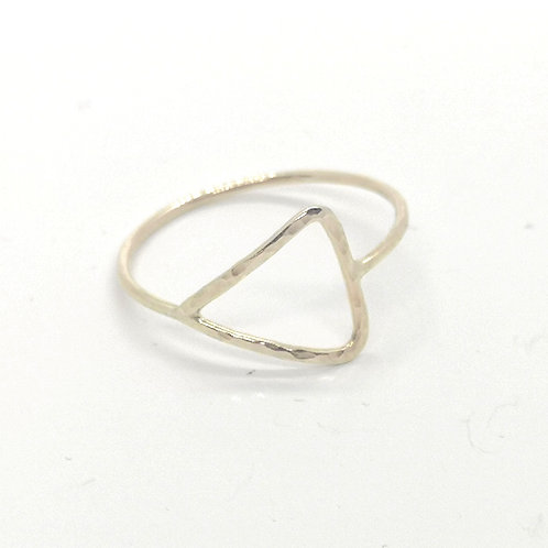 Triangle Ring in Silver