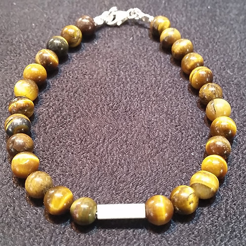 Tiger's Eye Bracelet with silver