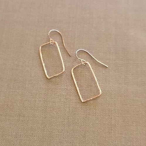 Square Earrings in Sterling silver