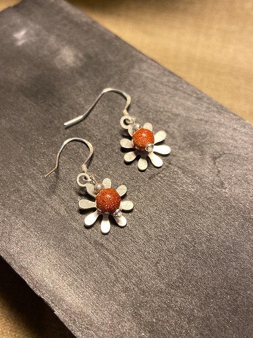 The stone flower earrings