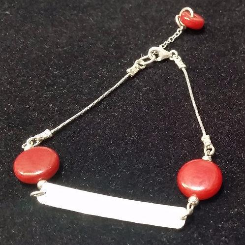 Hammered bracelet in silver