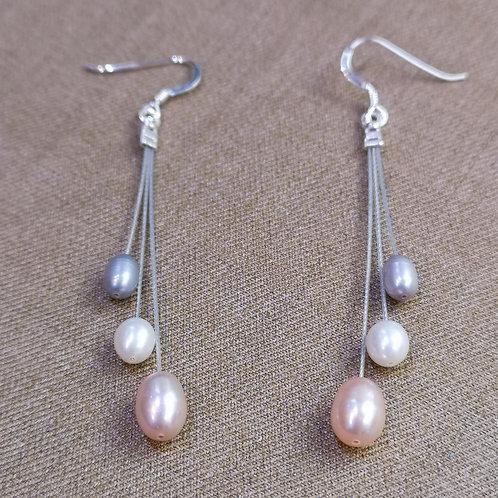 Shooting Stars earrings on silver