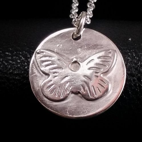 Butterfly Pendant in Silver